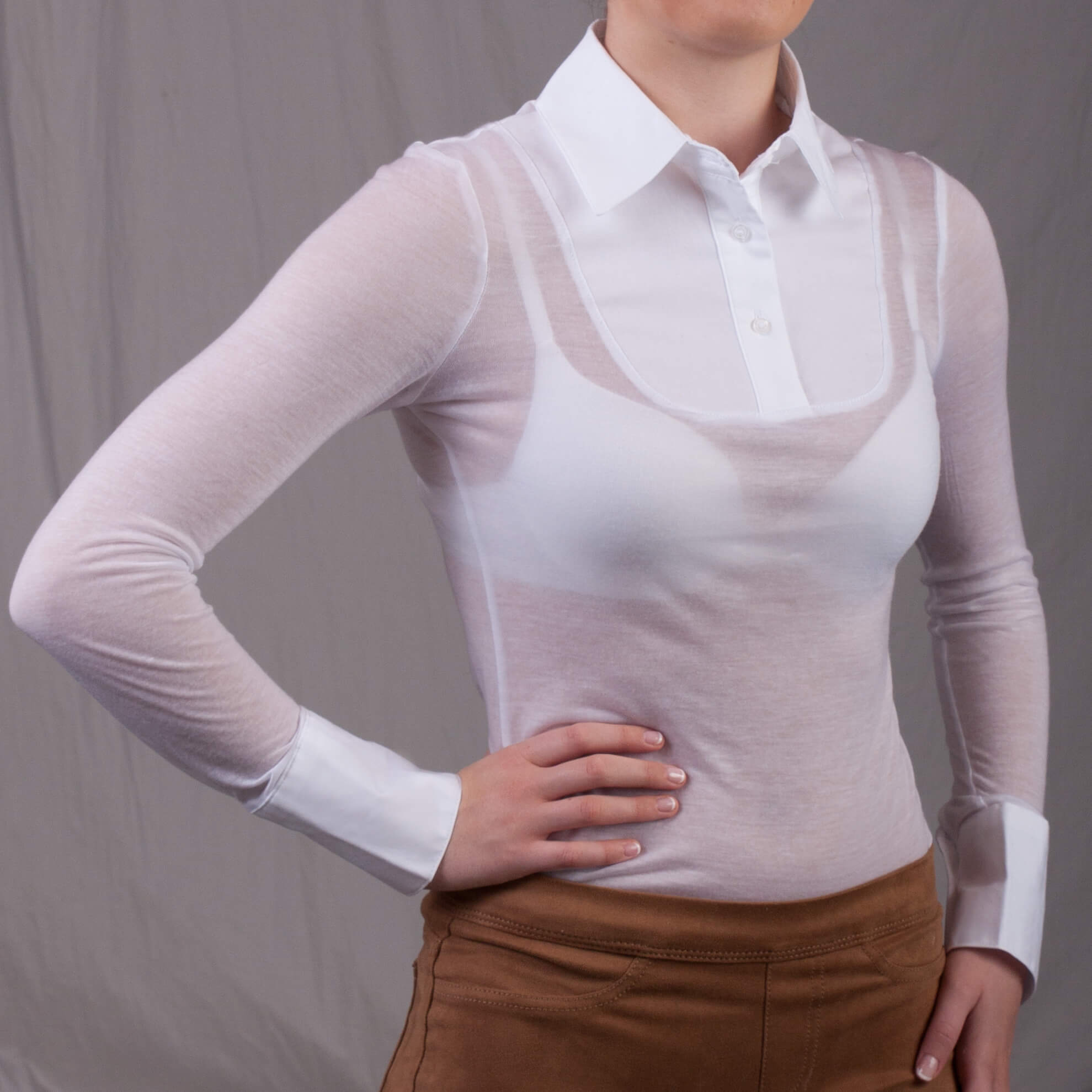 Goody Two-Shirts Transparent Top